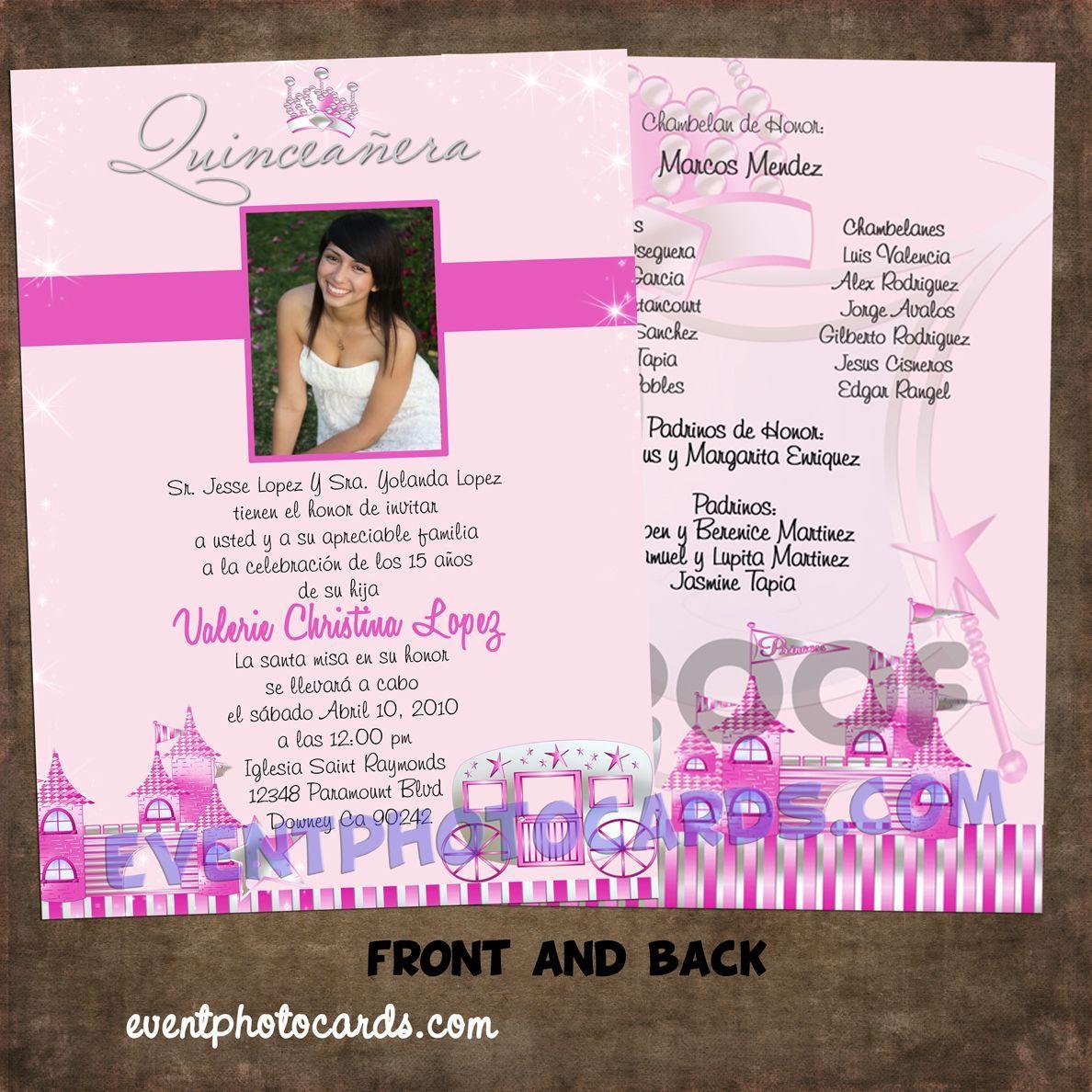 Quinceanera Invitations Wording