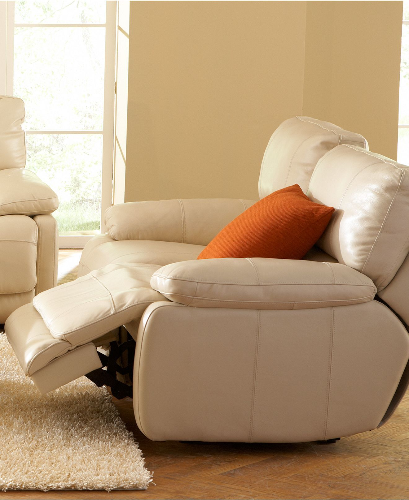 two cushion power reclining sofa student handbook nina leather living room furniture collection