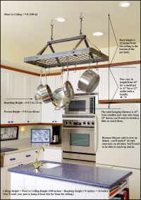 Pot Rack Hanging on Pinterest | Hanging Pot Racks, Italian ...
