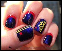 wonder woman nail art | Wonder Woman | Nails & Make Up ...