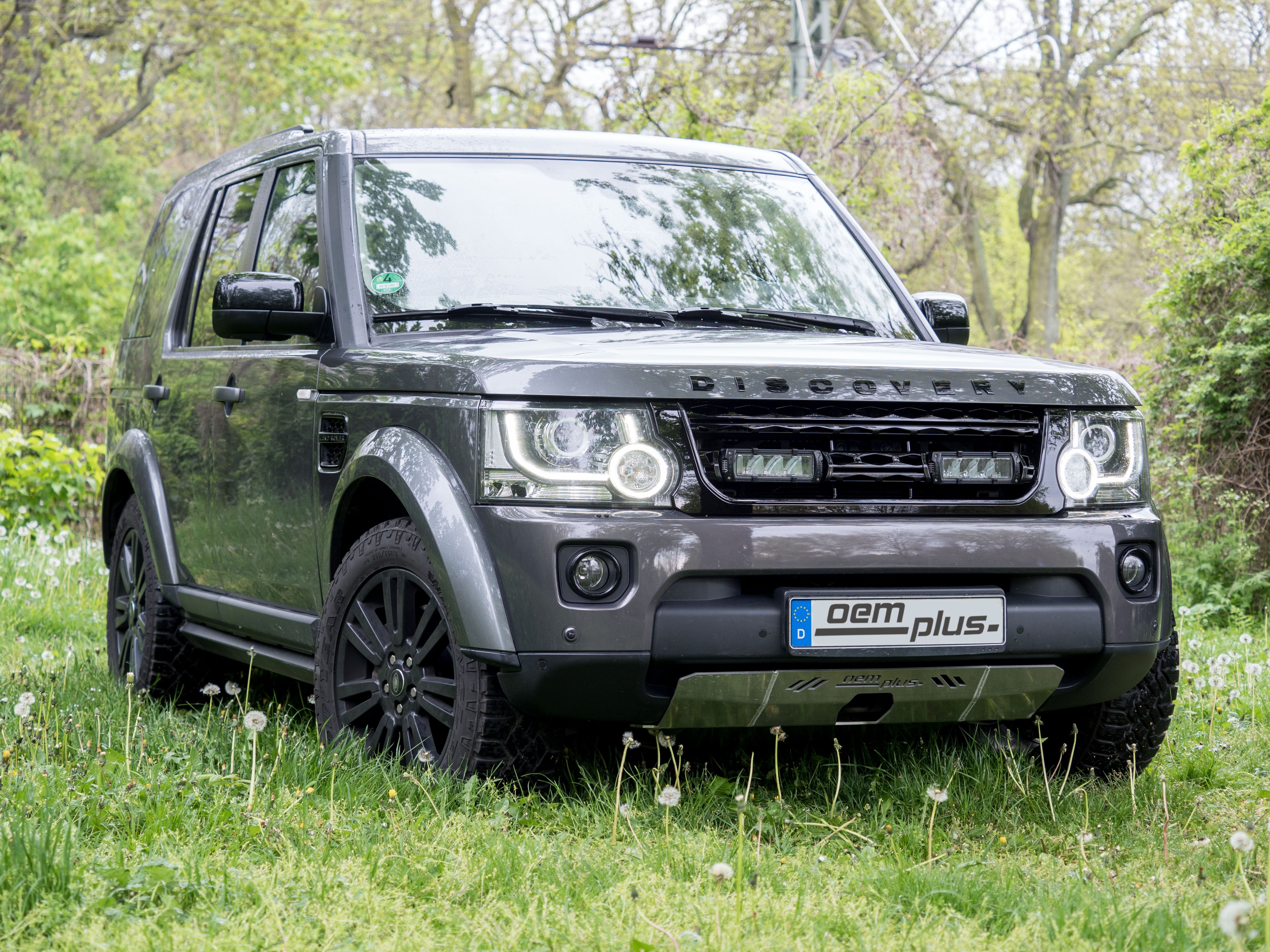 Land Rover Discovery with under body front protection and own