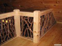 rustic railing ballusters