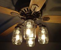 Mason Jar CEILING FAN Light Kit New Quart Jars | Mason jar ...
