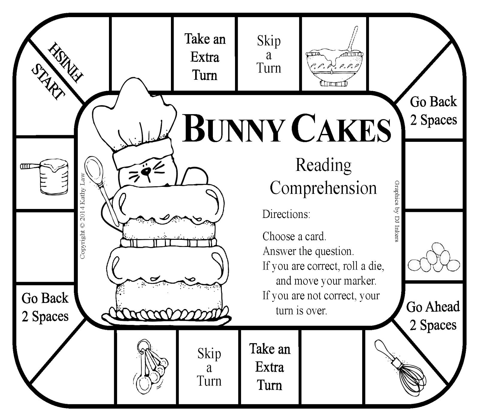 BUNNY CAKES Game and activities for Read for the Record