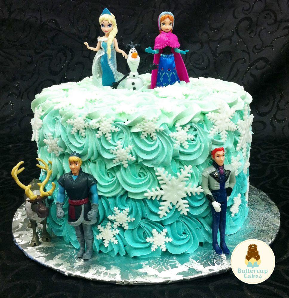 7th Birthday Cake Cartoon Character Design