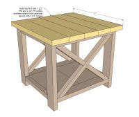 Ana White   Build a Rustic X End Table   Free and Easy DIY ...