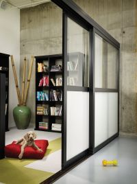 Sliding Glass Room Dividers - Frosted | The Sliding Door ...