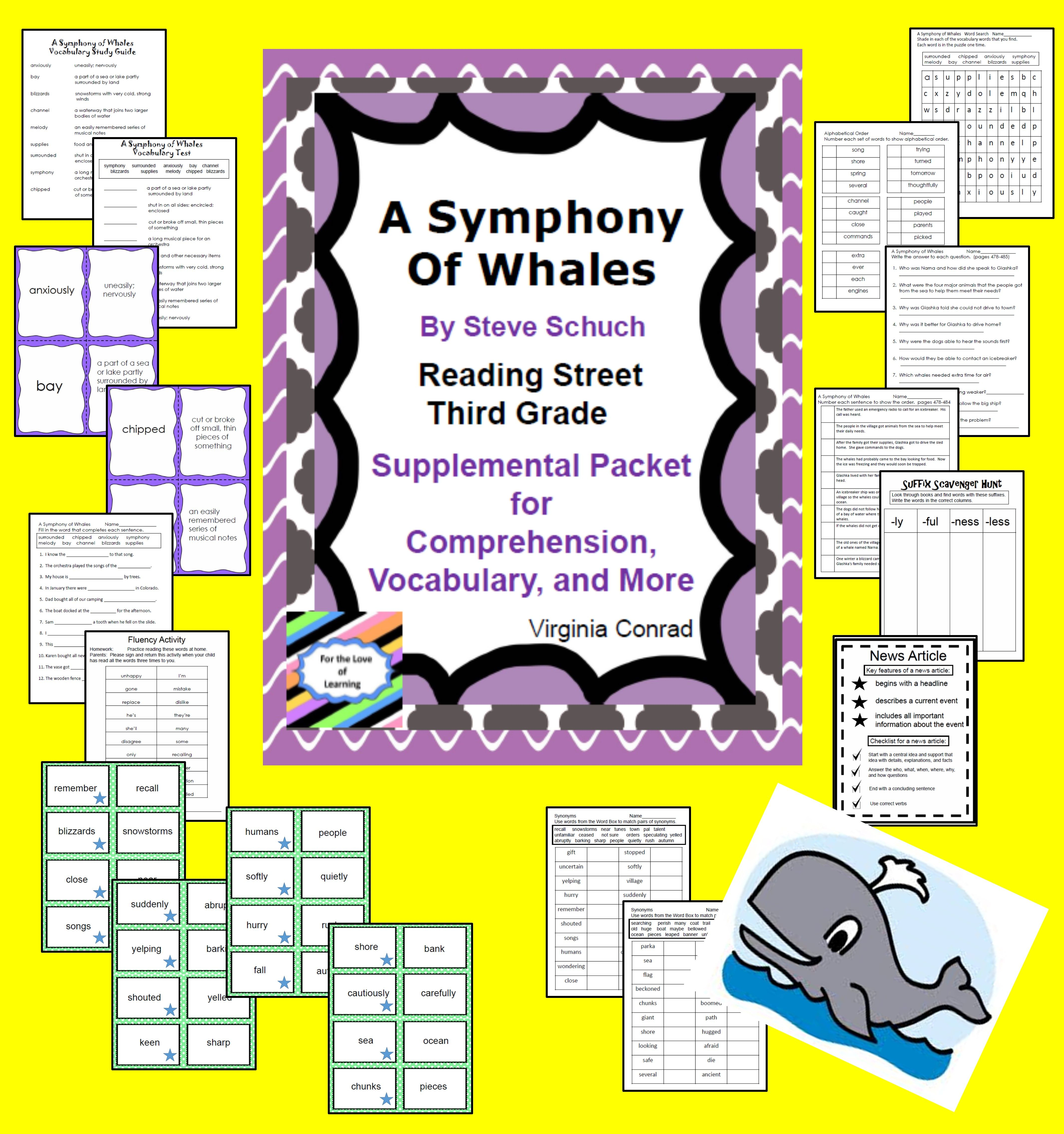 A Symphony Of Whales Supplemental Packet Reading Street