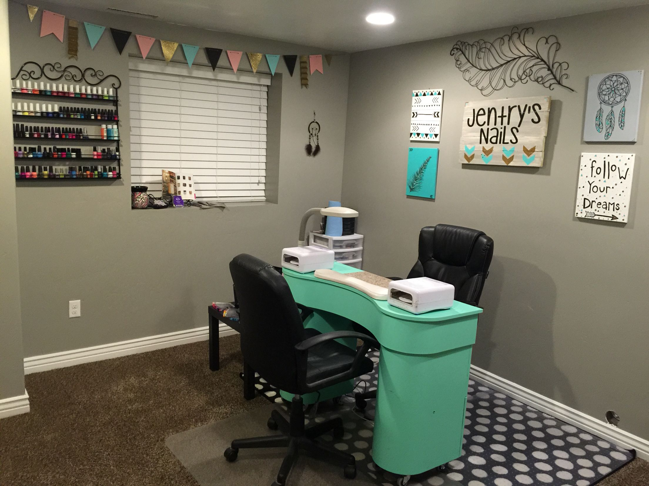 In Home Nail Salon Crafts Pinterest Mom Nails And Spaces