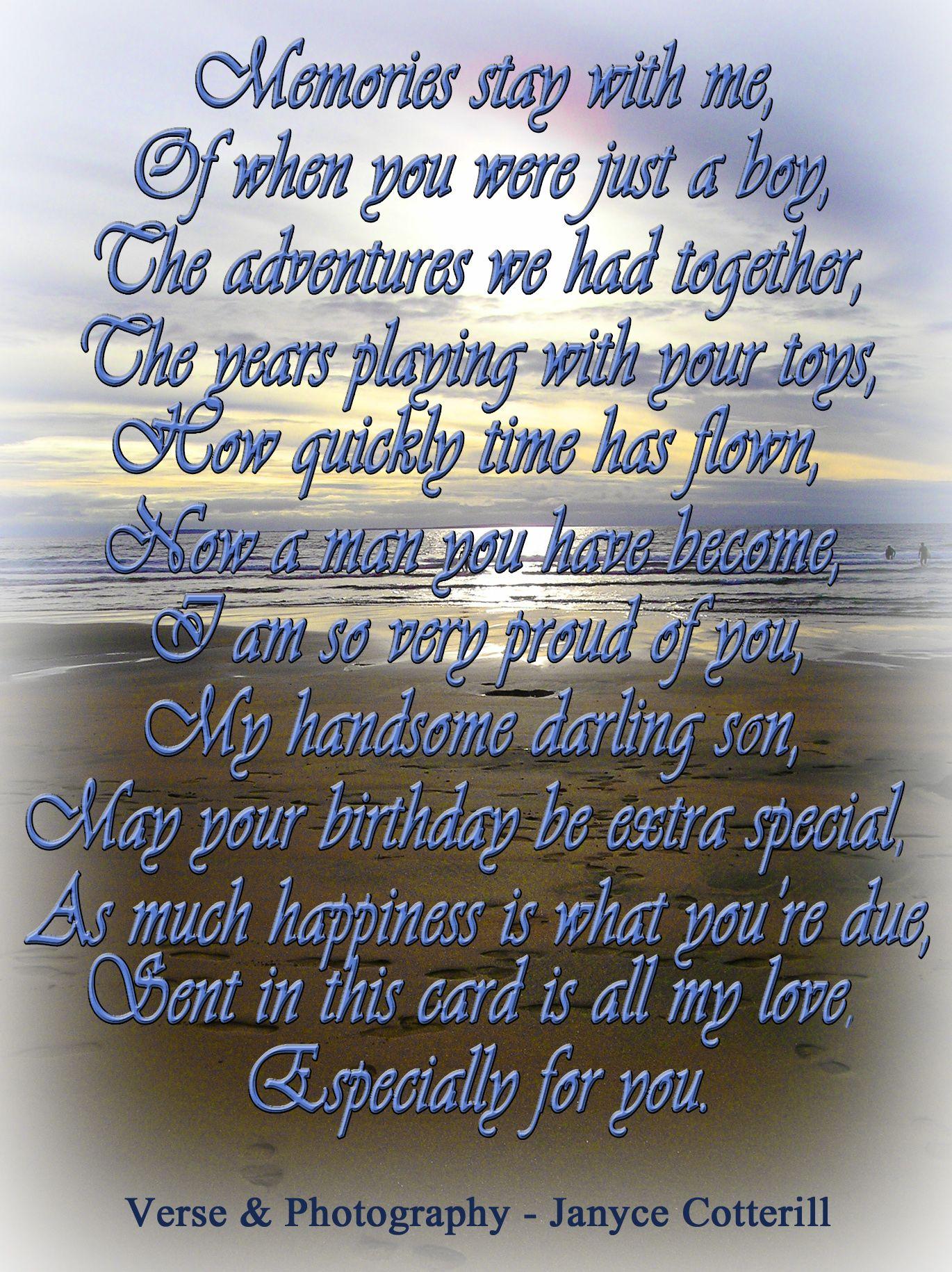 Birthday Card Verses Son