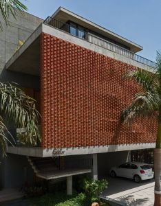 also rippling red brick facade shades house in surat by design work group rh fi pinterest