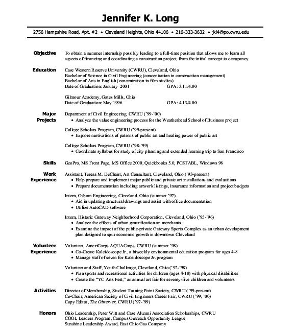 Biology Resume Examples Resume Internship Sample Resume Cv Cover 10 Best Resumes Substi10gif Good Resume Format Examples Resume Resume Internship Objective Click Here To Download This Marketing Intern Resume Template Http Internship