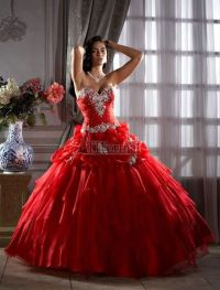 2013 Sexy Red Quinceanera Party Masquerade Prom Dress Ball ...