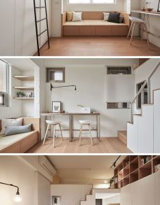 This small loft apartment is designed to include everything they need also rh pinterest