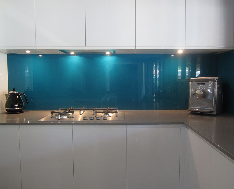 Blue Glass Kitchen Splashback Google Search Kitchen And Dining Pinterest Google Search