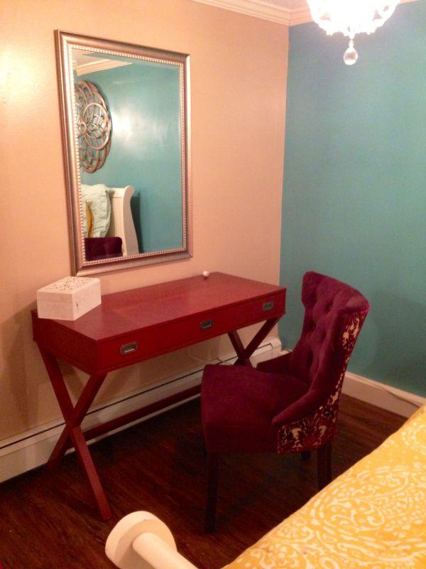 Basement Bedroom -vanity Area Desk Target Chair