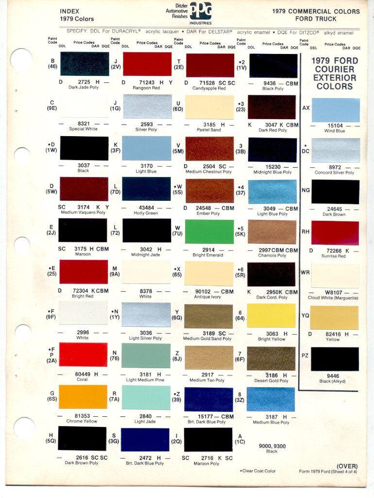 Codes 1979 Paint Camino El