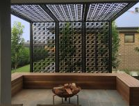 Pergola/privacy screen made using decorative screens ...