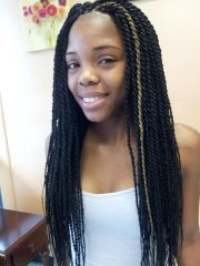 black single plaits hairstyles