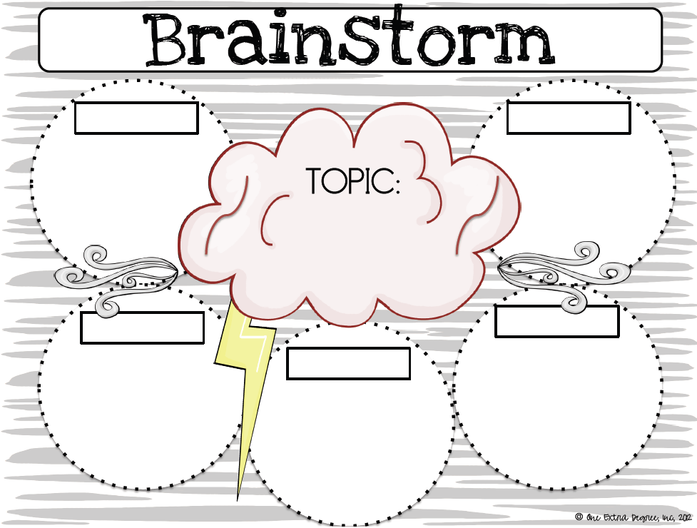 College essay topic brainstorming graphic organizer
