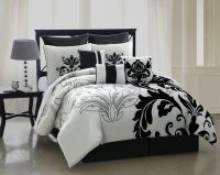 Queen Comforter sets | Piece Queen Arroyo Black and White ...