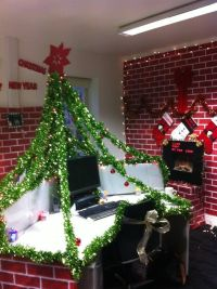 Christmas work desk/ pod decorations - under the Christmas ...
