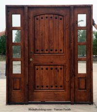 Rustic Knotty Alder entry doors with Sidelights clearance ...