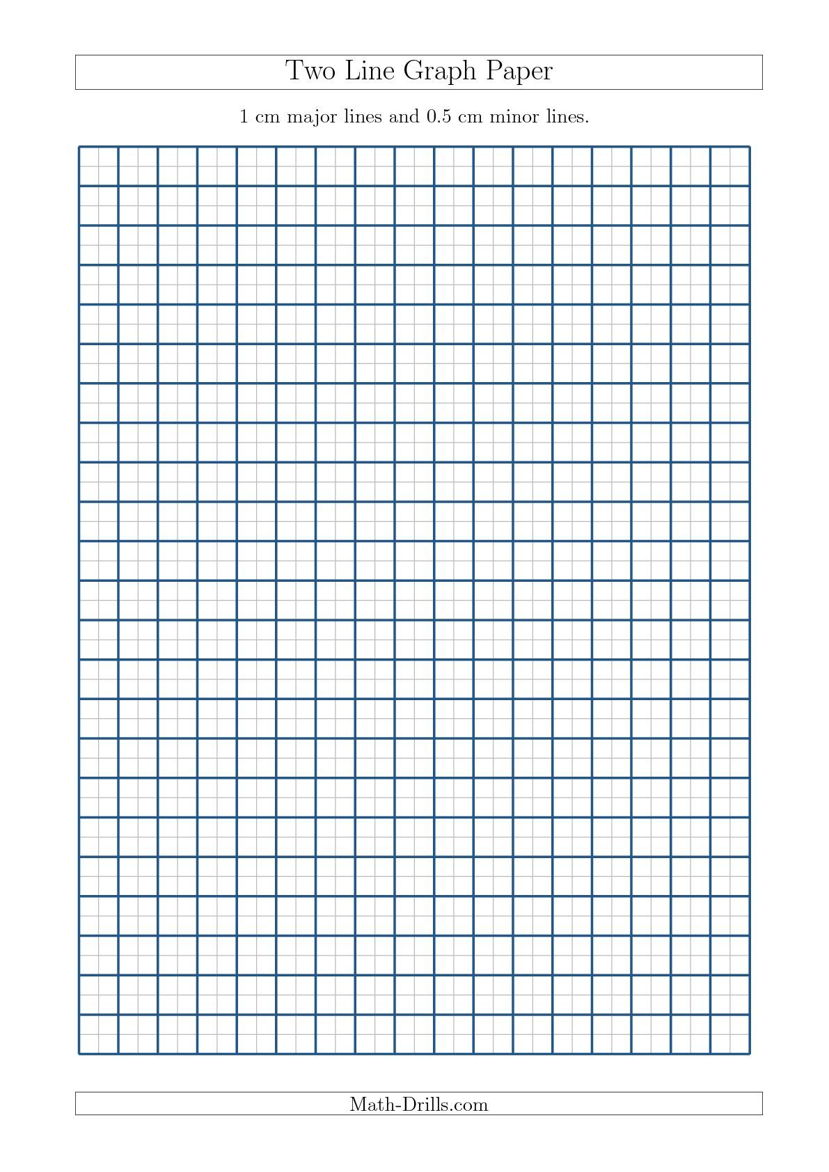 Two Line Graph Paper With 1 Cm Major Lines And 0 5 Cm