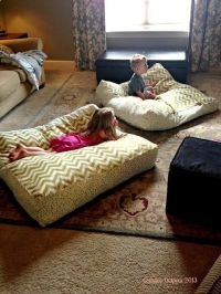 DIY Giant Floor Pillows | Home