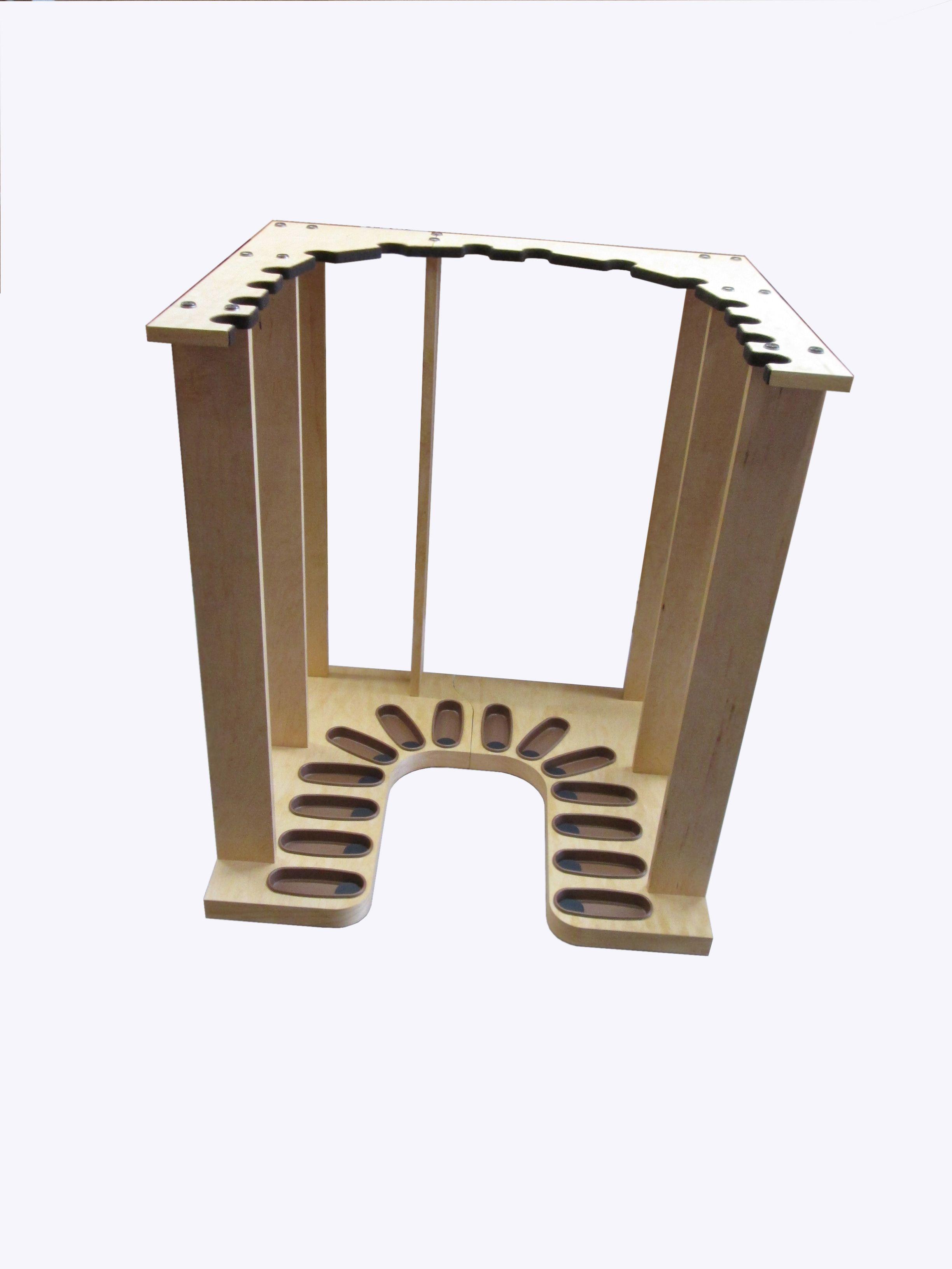 U Shaped Vertical Gun Rack for a Safe or Closet. www.gun