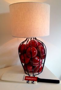 Cricket Ball lamp. Fill lamp base with balls for sport ...