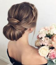 elegant chignon wedding hairstyle