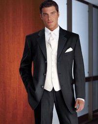 I love a white vest and black tux.   My man!!   Pinterest ...
