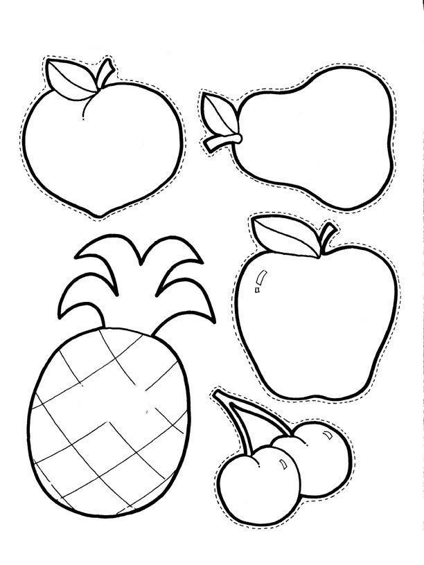 Molde Frutas Imprimir Galerinha On Line Moldes De Frutas