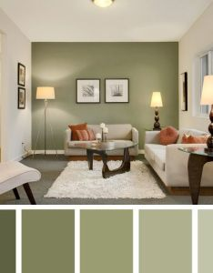 Accent wall color ideas for contemporary living room with noguchi table and antique floor lamps cozy also colores verde seco casita pinterest rooms para rh