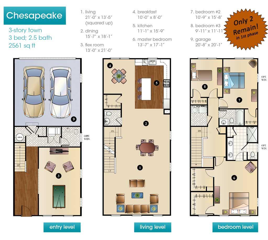 New Construction Townhouse Floor Plans