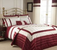 Image detail for -Red & cream double duvet cover, bedding ...