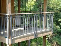 face mount balcony railing