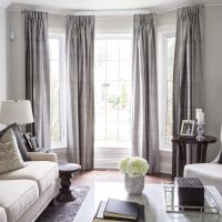Lovely bay window treatment. Off center window can still ...