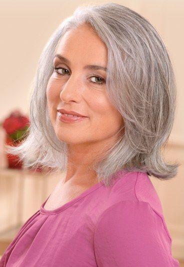 Schulterlang Frisuren Graues Haar Und Andere Beautysachen