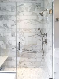 Artistic Tile I This master bathroom is all Calacatta Gold ...