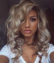 medium blonde hairstyles fade
