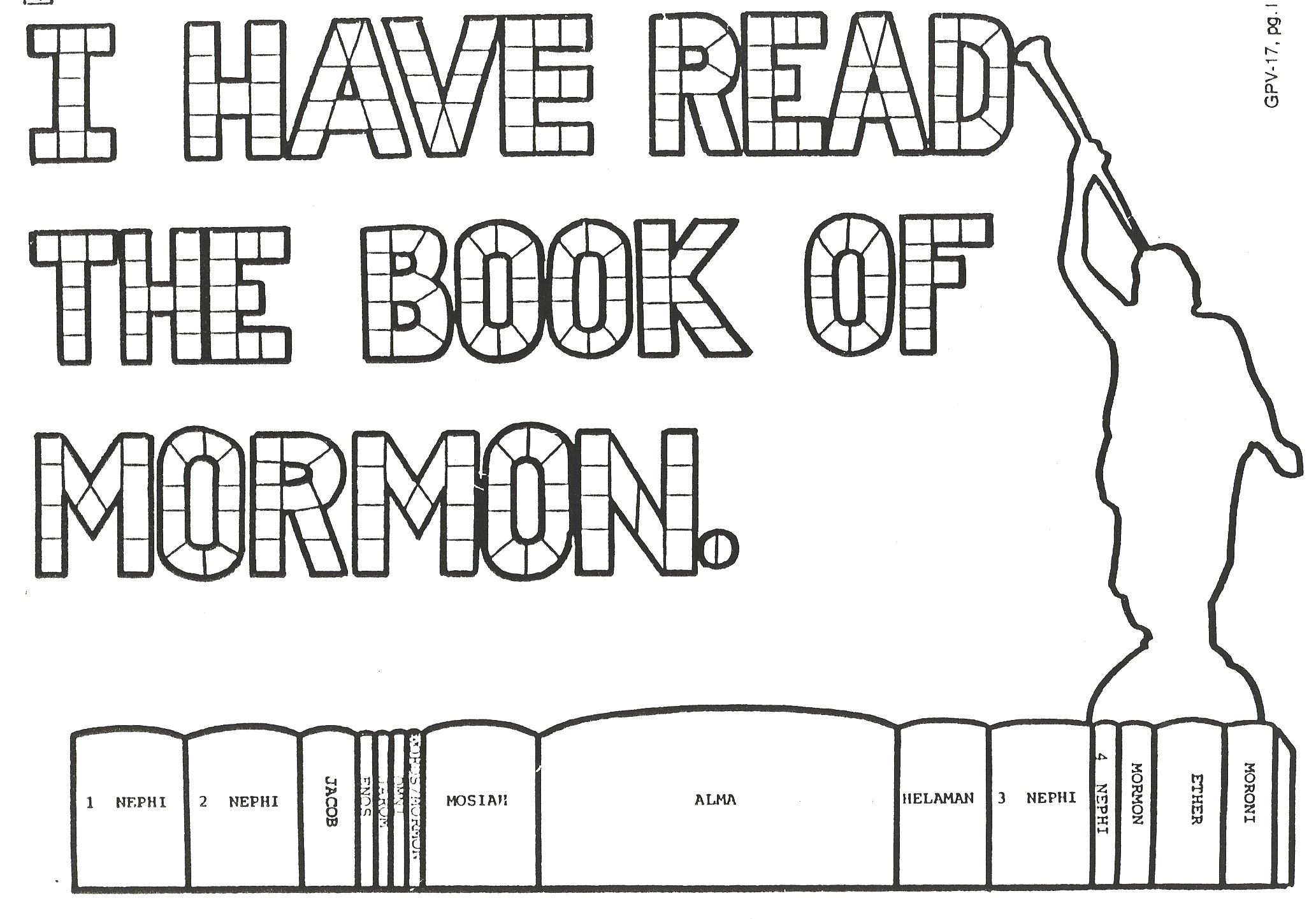 Book of Mormon Study Guide! Here is the coloring chart