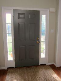 Inside of Front Door Painted - Benjamin Moore Chelsea Gray ...