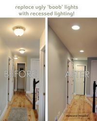 Recessed Lighting- totally want to do this to get rid of ...