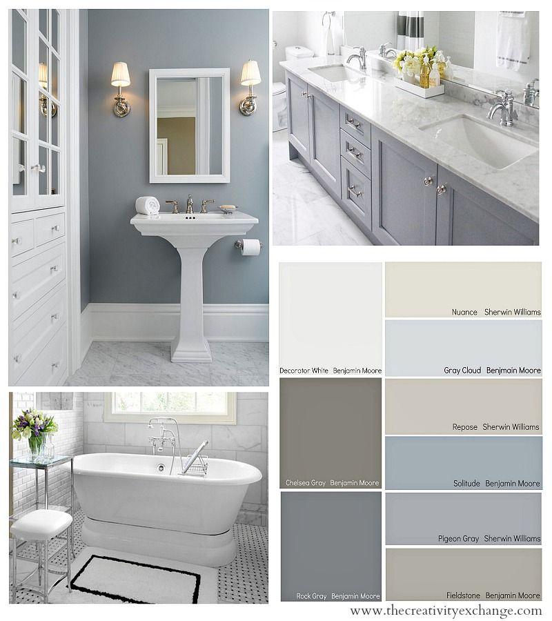 Bathroom Color Schemes on Pinterest