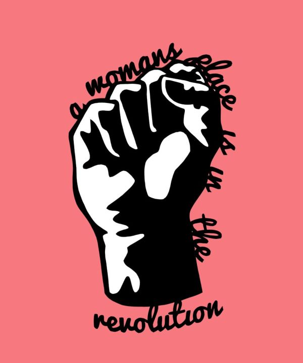 ' Woman' Place In Revolution' Paper Cut Print