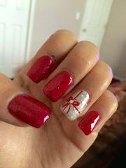 cute nails christmas acrylic
