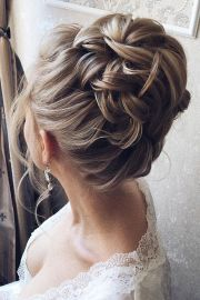 beautiful wedding hair updo
