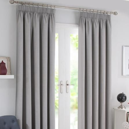 Waters And Noble Grey Solar Blackout Pencil Pleat Curtains